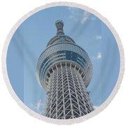 Tokyo Skytree Round Beach Towel