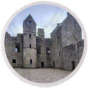 Tolquhon Castle 4 Round Beach Towel