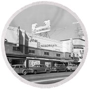 Tom Breneman's Restaurant Round Beach Towel by Underwood Archives