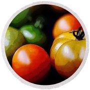 10044 Tomatoes Round Beach Towel