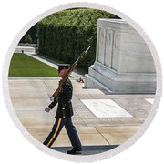 Tomb Guard Round Beach Towel
