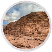 Tombs Of Petra Round Beach Towel