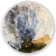 Tombstone Abstract Round Beach Towel