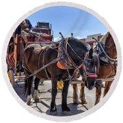 Tombstone Stagecoach 2 Round Beach Towel