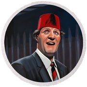 Tommy Cooper Round Beach Towel