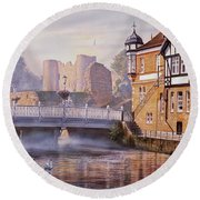 Tonbridge Castle Round Beach Towel