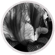 Tones Of Iris Round Beach Towel
