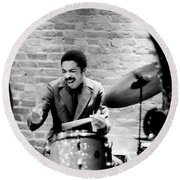 Tony Williams At The Penthouse Round Beach Towel