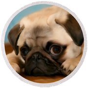 Too Cute Round Beach Towel
