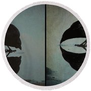 Too Much Self Reflection Can Lead To Narcissism Round Beach Towel