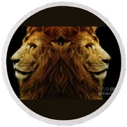 Too Strong Round Beach Towel