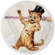 Top Cat Round Beach Towel by Louis Wain