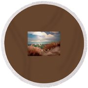Top Of The Dune Round Beach Towel