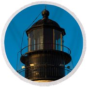 Top Of The Key West Lighthouse  Round Beach Towel