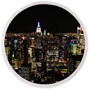 Top Of The Rock Round Beach Towel
