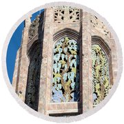 Top Of The Singing Tower House					 Round Beach Towel