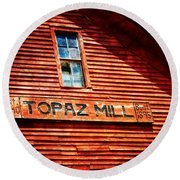 Topaz Round Beach Towel by Marty Koch