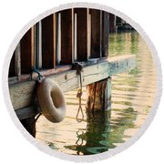 Torch River Bayou Round Beach Towel