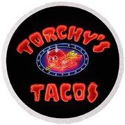 Torchy's Tacos Round Beach Towel