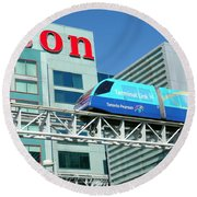 Toronto Airport Shuttle Round Beach Towel