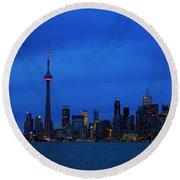 Toronto Blues... Round Beach Towel