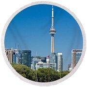Toronto Harbour Round Beach Towel