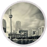 Toronto Harbourfront Round Beach Towel