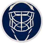 Toronto Maple Leafs Goalie Mask Round Beach Towel