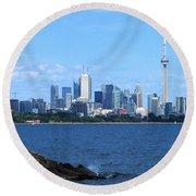Toronto Ontario Canada Skyline Round Beach Towel