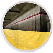 Toronto Subway Station Round Beach Towel