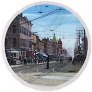 Toronto Yonge And College 1916 Round Beach Towel