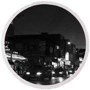 Toronto's China Town After Sunset Round Beach Towel