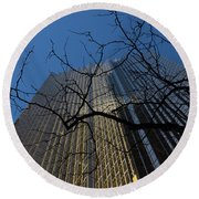 Toronto's Golden Bank - Royal Bank Plaza Downtown Round Beach Towel
