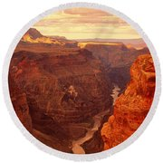 Toroweap Point, Grand Canyon, Arizona Round Beach Towel