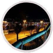 Torquay Royal Terrace Gardens Steps At Night Round Beach Towel