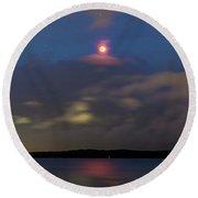 Total Lunar Eclipse From Australia Round Beach Towel