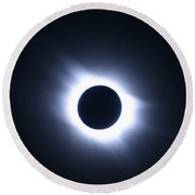 Total Solar Eclipse Round Beach Towel by Stephen & Donna O'Meara