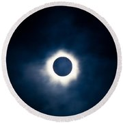 Total Solar Eclipse With Visible Corona Round Beach Towel