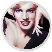 Totally Marilyn Round Beach Towel