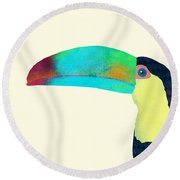 Toucan Round Beach Towel by Eric Fan