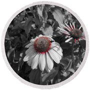 Touch Of Red Invite Round Beach Towel