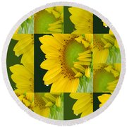Touch Of Yellow  Round Beach Towel