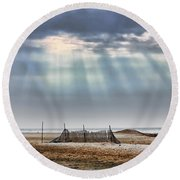 Touched By Heaven Round Beach Towel