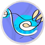 Thoughts And Colors Series Bird Round Beach Towel