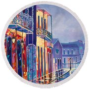 Toulouse At Bourbon New Orleans Round Beach Towel
