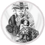 Tour Of Duty - Women In Combat Le Round Beach Towel by Peter Piatt