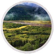 Toutle River Valley Round Beach Towel