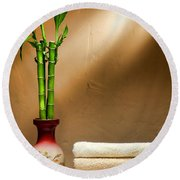 Towels And Bamboo Round Beach Towel