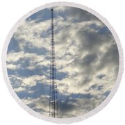 Tower After The Rain Round Beach Towel