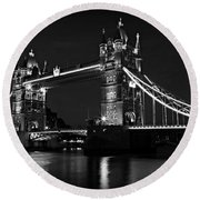 Tower Bridge Evening Round Beach Towel